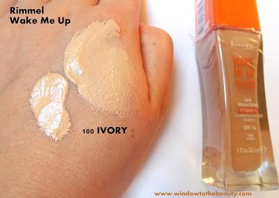 rimmel ivory foundation swatch