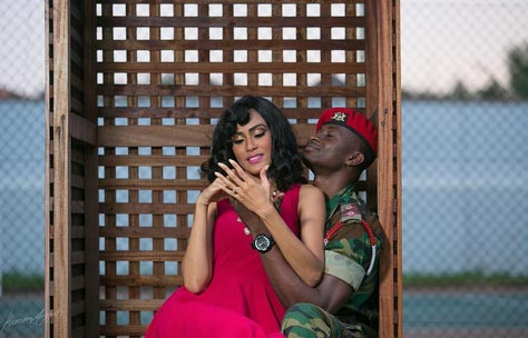 Aww! Sophia Ibrahim and her soldier man release pre-wedding photos