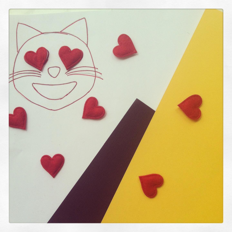 Emoji Cat Valentine S Card