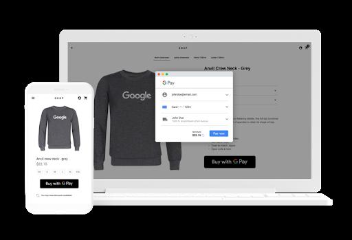 Google Pay のご購入手続き画面