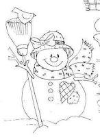 boneco de neve para pintar, desenhos de natal
