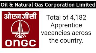 ONGC 4182 Apprentice vacancies across INDIA Apply now