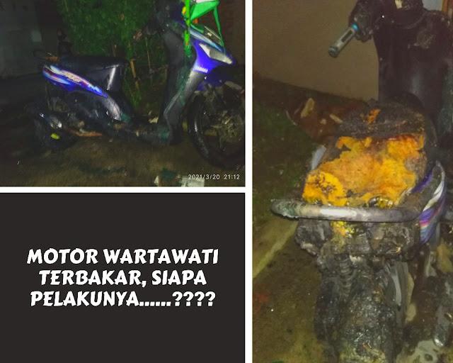Motor Wartawati Terbakar