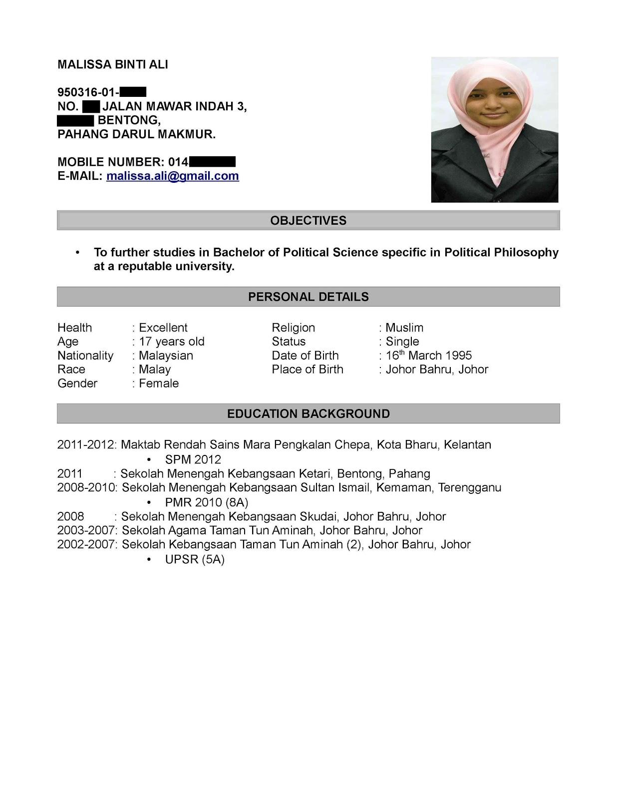Contoh Surat Application Letter Dalam Bahasa Inggris   Resume