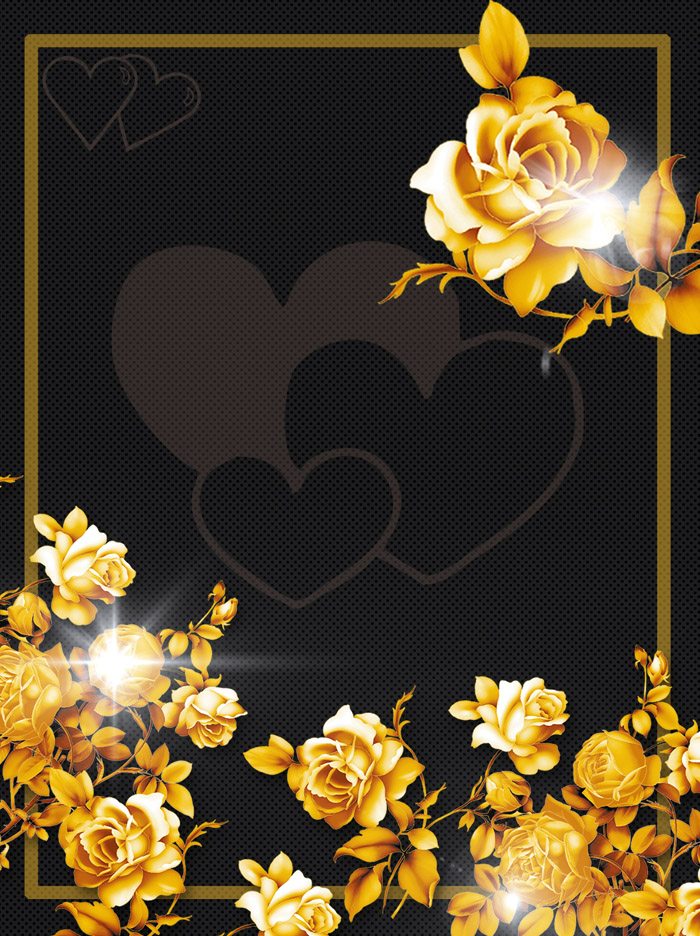 BlacK Shading Cool Golden Rose Editable PSD