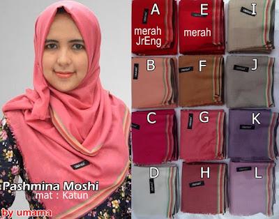 Model Jilbab Terbaru Pashmina Moshi