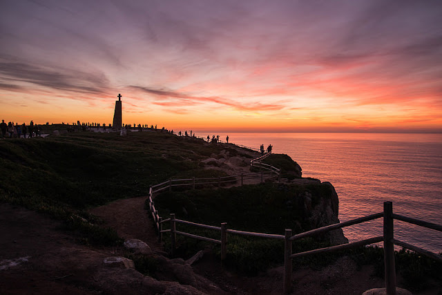 cabo da roca tramonto portogallo