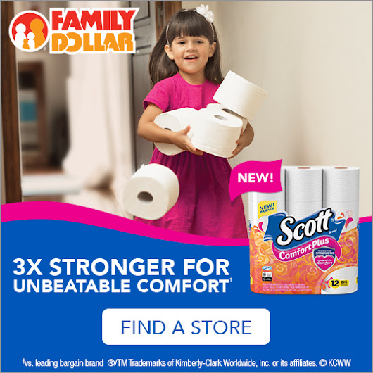 Save On Scott ComfortPlus At Family Dollar
