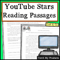 Reading passages for middle school students about youtubers