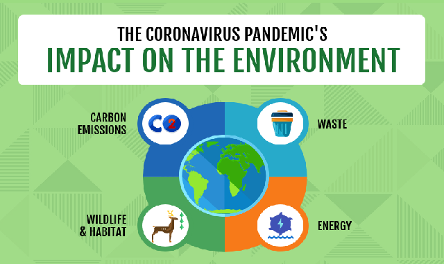 The Coronavirus Pandemic's Impact on the Environment #infographic