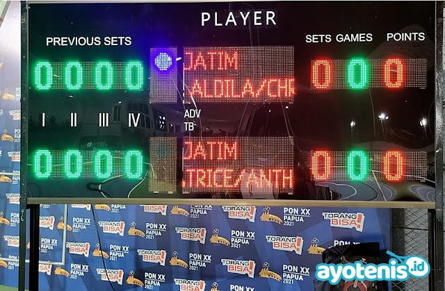 PON XX Papua: Hasil Cabor Tenis Ganda Campuran Final