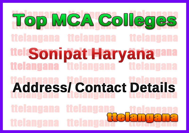 Top MCA Colleges in Sonipat Haryana