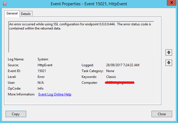 Clint Boessen\u0027s Blog: An error occured while using SSL configuration