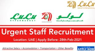 Lulu Hypermarket Jobs UAE and Other Location | Latest careers 2021