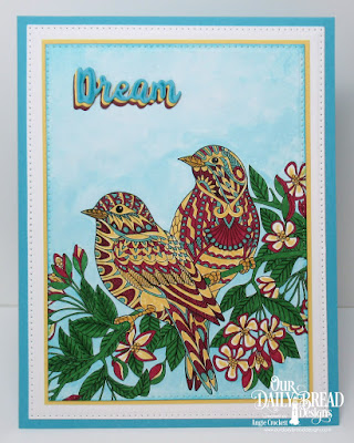 Our Daily Bread Designs Paper Collection: God's Beauty Coloring Pages, Custom Dies: Inspiration Words, Pierced Rectangles