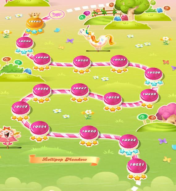 Candy Crush Saga level 10221-10235