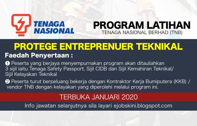 Program Latihan Protege Entreprenuer Teknikal Di TNB 2020