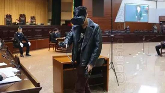 tribunal chines realidade virtual cena crime