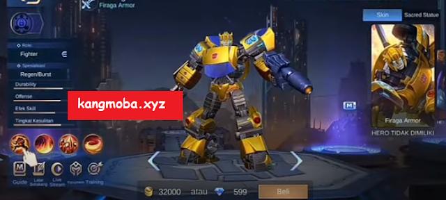 Script Skin Xborg Bumblebee Transformers Full Effect Mobile Legends