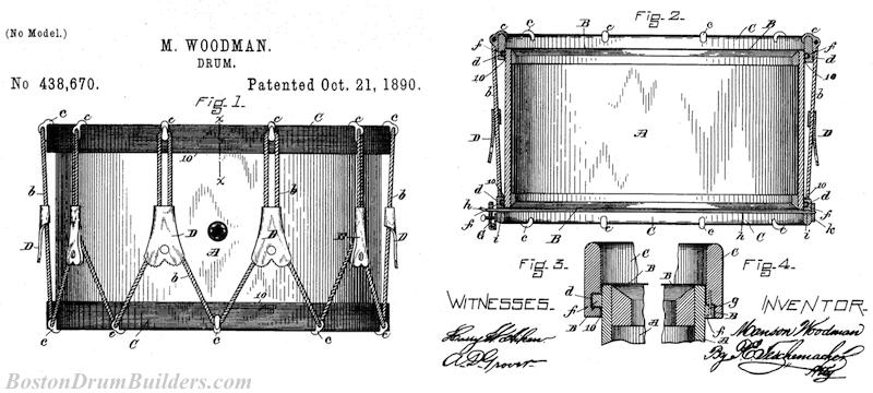 Manson Woodman Drum Patent