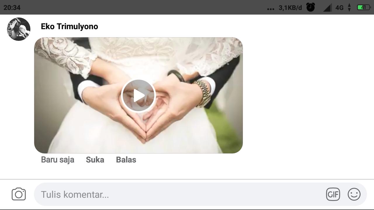 Cara upload video di komentar facebook lewat android