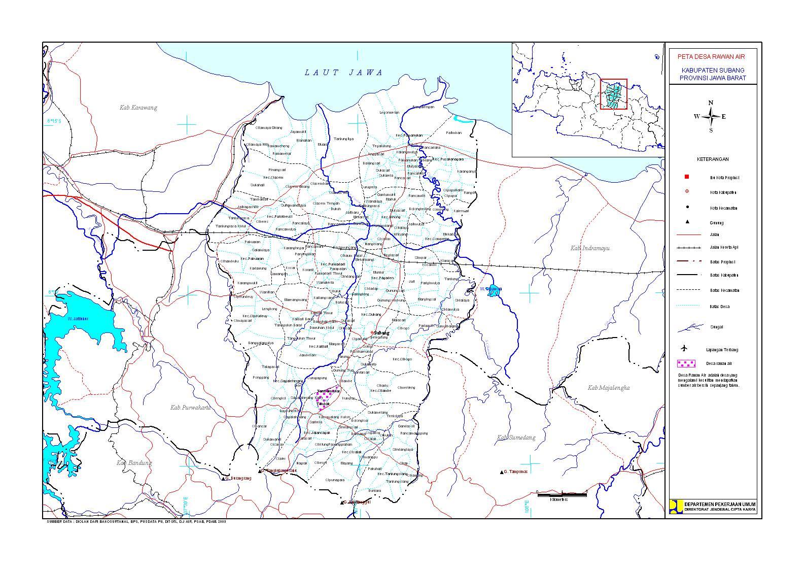 Geografi dan Topografi Kota Subang | Referensi Sahabat