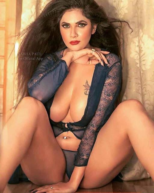 Aabha Paul Sexy Navel Photos with Cleavage