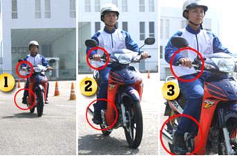 Phanh xe máy trên đường trơn đúng cách