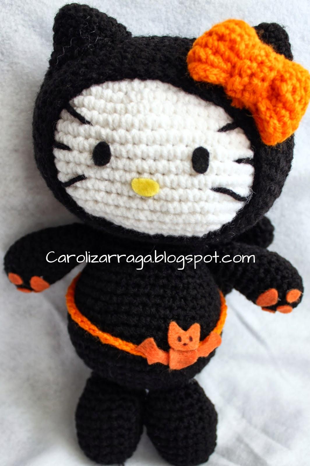 Hello Kitty tejida a crochet (amigurumi) Parte 7: acabados - YouTube   1600x1064