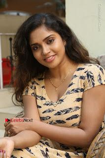 Telugu Actress Karunya Chowdary Stills in Short Dress at ATM Not Working Press Meet  0132.jpg