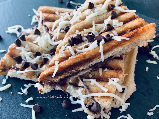 ChocolateCheeseSandwichRecipe_ByKhushi