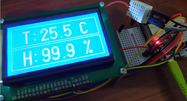 ESP 32 Menggunakan LCD 128x64