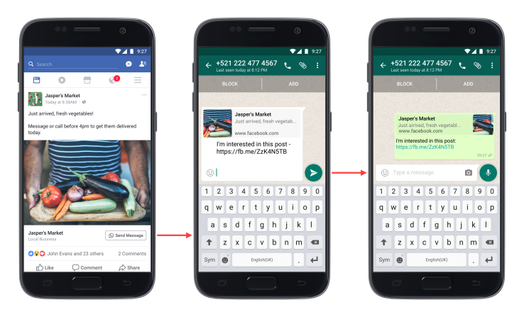 Facebook ads get Click-to-WhatsApp buttons