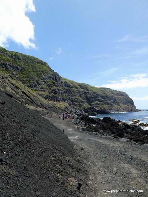 piscinas calientes y naturales en las Azores