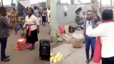 Two preachers fight over preaching spot in Lagos (video)