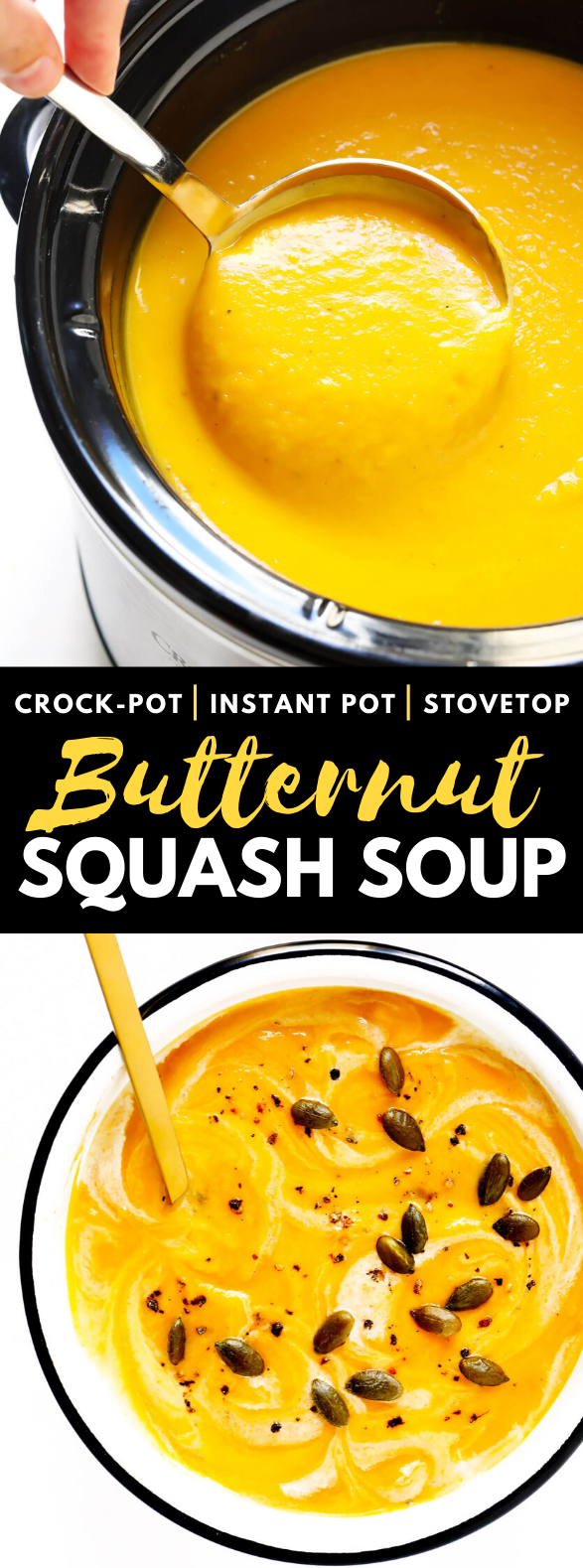 BUTTERNUT SQUASH SOUP #vegetarian #glutenfree