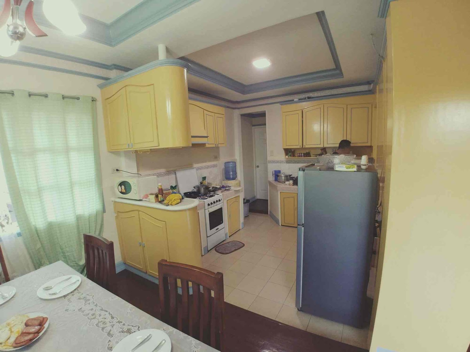 The kitchen of the house in Bohol