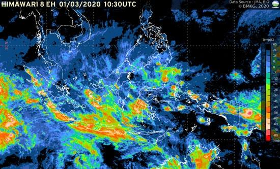 Prakiraan Cuaca Moga & Sekitarnya Hari Ini, Rabu 18 Maret 2020