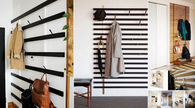 DIY Κρεμάστρες Εισόδου από Ξύλινα Πηχάκια