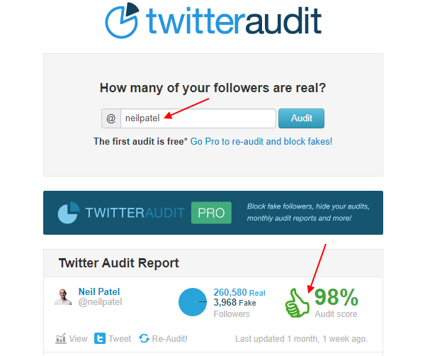 twitter profle audit