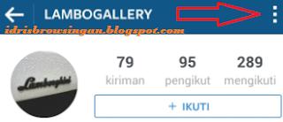 Mengunci Profil Instagram