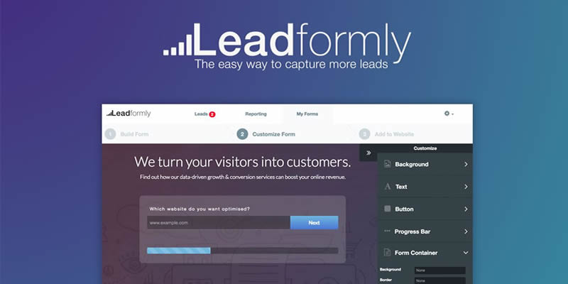 Get more out of your traffic with LeadFormly