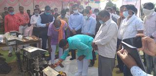 मंत्री श्री कावरे ने नाहरवानी में किया धान खरीदी केंद्र  का शुभारंभ