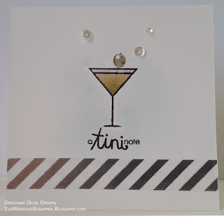 Paper Smooches Free Spirits martini glass notecard