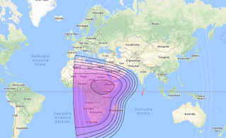 Footprints and Beam Coverage Satellite Thaicom 6 78.5°E C Band