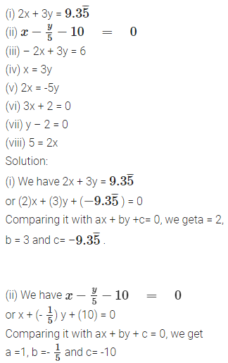 NCERT Solutions for Class 9 Maths Chapter Chapter 3 Coordinate Geometry Ex 4.1