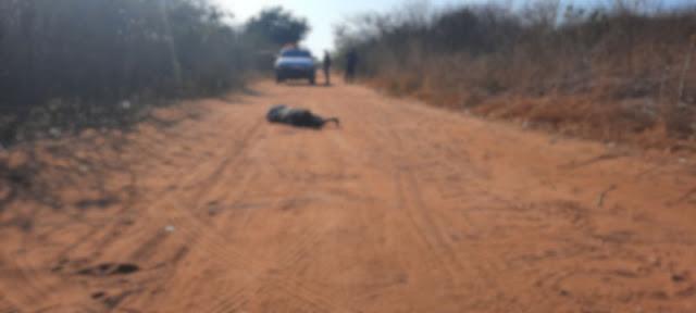 Corpo crivado de balas é encontrado numa estrada carroçável em Mossoró