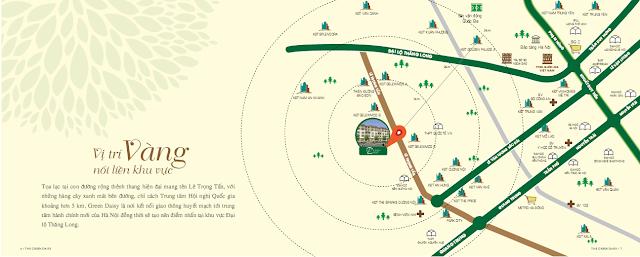 Vị trí đắc địa của dự án The Green Daisy