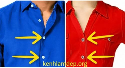 Cùng là áo sơ mi, tại sao cúc áo của đàn ông luôn đóng ngược chiều với phụ nữ?