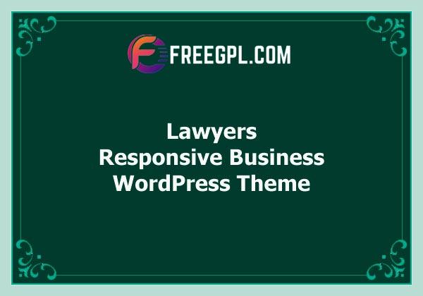 Lawyers – Responsive Business WordPress Theme Free Download